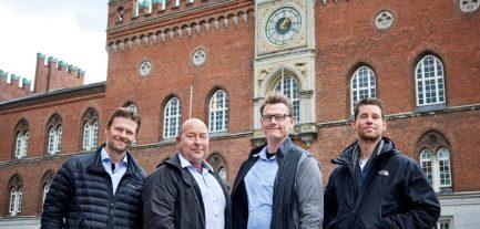 Teamet: Jakob Rasmussen, K&L, Niels Knokgård, ebmpapst, Rasmus Storm Hansen, Rambøll og Troels Groth Harpøe, Odense kommune.